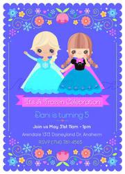 Frozen Pary invitation by minercia
