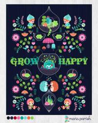 Grow Happy Little Terrarium by minercia