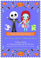 Nightmare Before Christmas Halloween Invitation by minercia