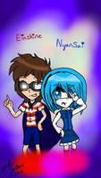 Einshine and Nyansai  by Stellathehedgehog1