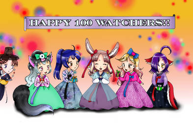 Thanks for the 100 watchers! by chiyako92