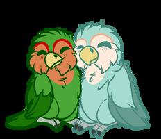 Love birds by Pocket-The-Dragon