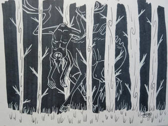 Inktober: Day - 16 somthing in the woods by Elmer157Typhlosion