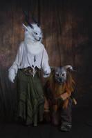 Grey Witch and Iron Beast by Qarrezel