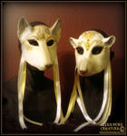 Wedding masks by Qarrezel