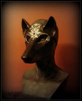 Midnight Wolf Masquerade Mask by Qarrezel