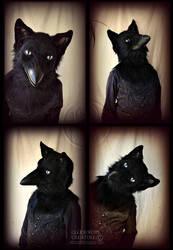 Crow-Fox Gryphon by Qarrezel