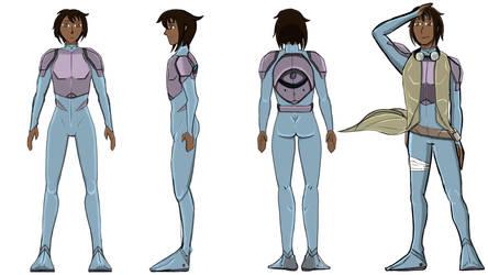 Tr'as la ment character design: Awakened Hero by ninjawilddog
