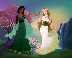 Calliope and Eurydice by KellySchot