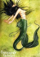 Green mermaid by Gwennol