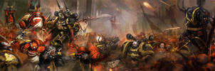 bloodangles vs black legion by p0p17