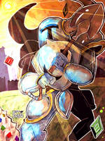 Shovel Knight by ScottScribbler