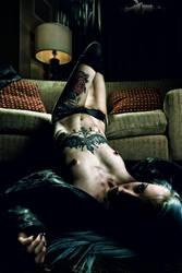 Black Leather Vampire 3 by alchemiststeve