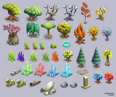 Canceled project - trees and environment by Fan-the-little-demon