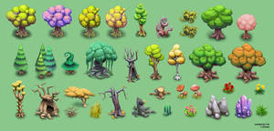 Canceled project - more trees and environment by Fan-the-little-demon