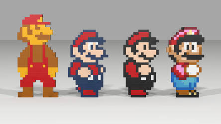 Many Marios by mithrylaltaire