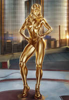 Golden Gammazon She Hulk by Nathdeviant456