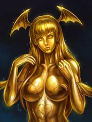 Golden Morrigan Aensland by Nathdeviant456