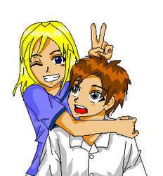 MSPaint: Surprise Hug by aoi-88