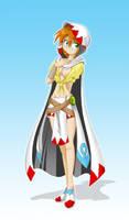 Fantasy lady White Mage by JagoDibuja