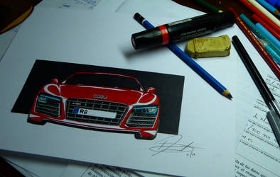 Audi R8: My second car drawing by DAREKSIG