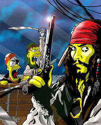 Pirates Of Springfield by jlfletch