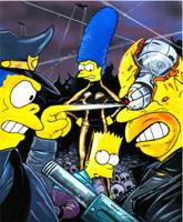 Bart Vs the Terminators by jlfletch