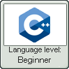 Cpp Lang Beginner Lvl Stamp by NuclearRadiation