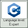 Cpp Lang Expert Lvl Stamp by NuclearRadiation