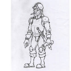 D and D / Militia Captain by Bergiloh
