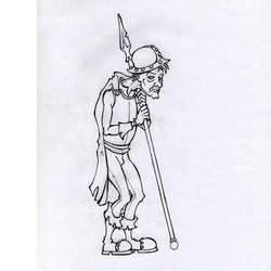 D and D / Militia Spearman by Bergiloh