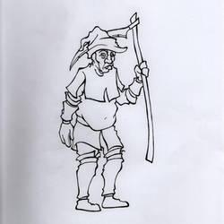 D and D / Townsfolk (farmer) by Bergiloh