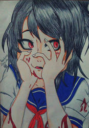 Yandere Drawing by KarolaineAlmeida