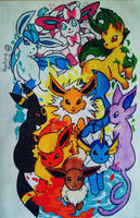 Eeveelutions by KarolaineAlmeida