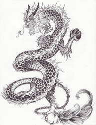 Chinese dragon detailed by Nela-G