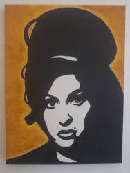 Amy Winehouse stencil painting Pop Art by claroscuro1