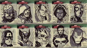 Marvel Masterworks Sketchcards by KellyYates