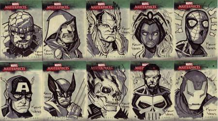 Marvel Masterworks Sketchcards by KellyYates
