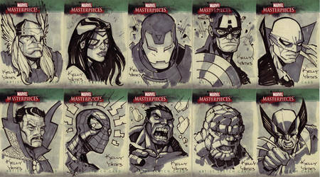 Marvel Masterworks Sketchcard2 by KellyYates