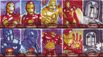 Iron Man 2 Sketchcards by KellyYates