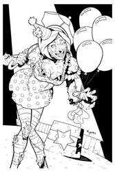 Zombie Clown by KellyYates