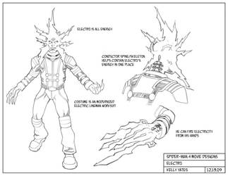 Spider-Man 4_Electro design by KellyYates
