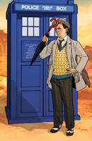 7th Doctor and TARDIS by KellyYates