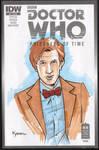 11th Doctor Marker Sketch by KellyYates