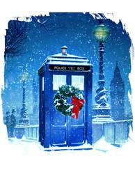 Christmas TARDIS by KellyYates