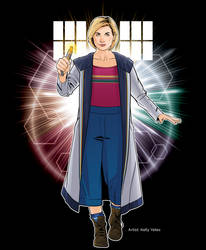 13th Doctor and Sonic by KellyYates
