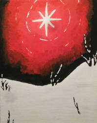 Winter Painting - Ominous Star by C-K-Whisper