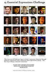 David Tennant 25 Expressions by FluffyNabs
