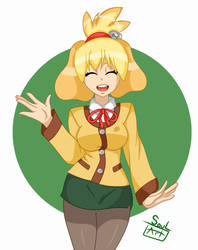 Isabelle -Animal Crossing- by SoulArt45