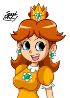 Princess Daisy by SoulArt45